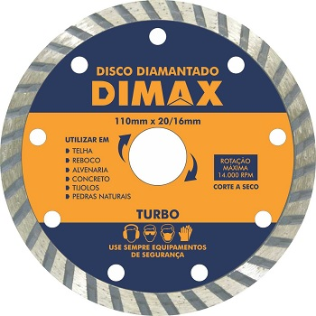 Disco Diamantado Turbo 110x20mm - DMX64580 - DIMAX