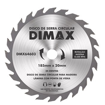 Disco Serra 185mm 24 Dentes Wídia - Ref.DMX64603 - DIMAX