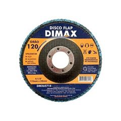Disco de Lixa Flap para Metal 4.1/2 Pol. com Grão 120 - Ref. DMX65716 - DIMAX