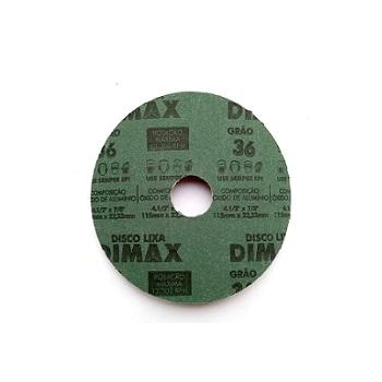 Disco de Lixa Grão 36 Aço 115x22mm - Ref. DMX64825 - DIMAX