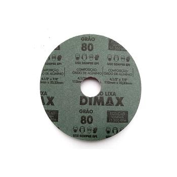 Disco Lixa Grão 80 115x22mm Aço - Ref.DMX64856 - DIMAX
