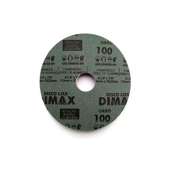 Disco de Lixa Grão 100 Aço 115x22mm - Ref. DMX64863 - DIMAX