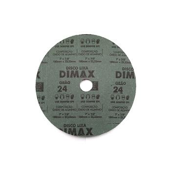 Disco de Lixa Grão 24 Aço 180x22mm - Ref. DMX64887 - DIMAX