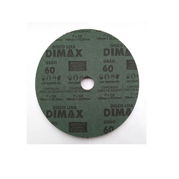 Disco Lixa Grão 60 180x22mm Aço - Ref.DMX64917 - DIMAX