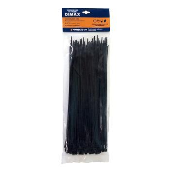 Braçadeira de Nylon 200x2,5mm Preto 100 Peças - Ref.DMX65792 - DIMAX