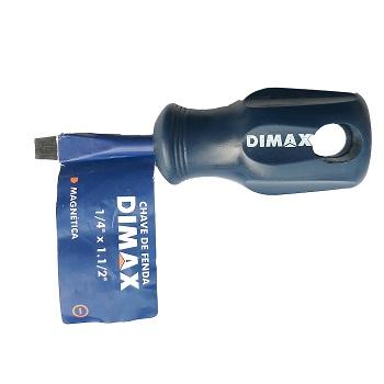 Chave Fenda 1/4x1.1/2 Cabo Azul - Ref. DMX65198 - DIMAX