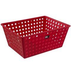 Cesta Plástica 39x30cm One Max Vermelha - Ref.10818/0465 - COZA