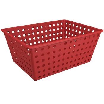 Cesta Plástica 39x30cm One Max Vermelha Gray - Ref.10818/0126 - COSA