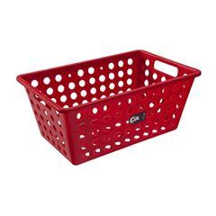 Cesta Plástica 30x20cm One Grande Vermelho - Ref.10806/465 - COZA