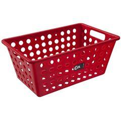 Cesta Plástica 19x15cm One Pequena Vermelha - Ref.10808/0465 - COZA