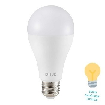 Lâmpada LED Bulbo 7W A55 E27 Bivolt 3000K Branco Quente - Ref. DI55380 - DILUX