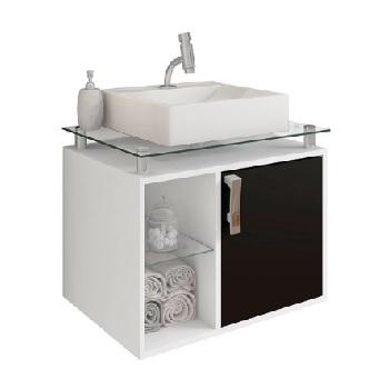 Gabinete Banheiro MDF 57x60 1 Prateleira Suspenso - Ref. 9935.10 - MGM