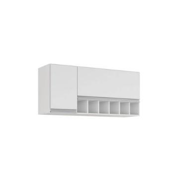 Armario Cozinha MDF Aereo 114x50cm Prisma Branco - Ref. 9949.2 - MGM