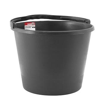 Balde Plástico 12L Para Concreto Preto - Ref.3315400120 - NOVE54