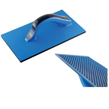 Desempenadeira Azul de PVC Estriada 14x27cm - Ref. 11014 - DIMAX