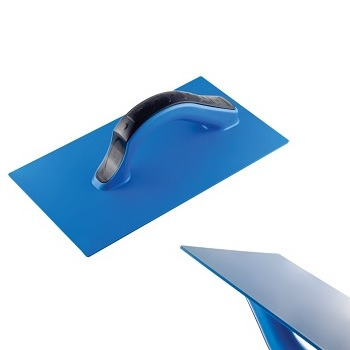 Desempenadeira Azul de PVC Lisa 17x30cm - Ref. 12015 - DIMAX