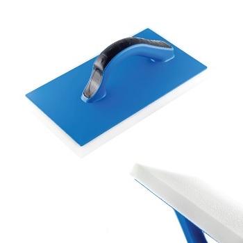 Desempenadeira Azul de PVC com Espuma 17x30cm - Ref. 13015 - DIMAX