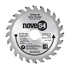 Disco Serra Circular Com 24 Dentes Vídea 110mmx20mm - Ref. 4668111224 - NOVE54