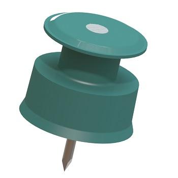 Isolador Polipropileno 36x36 Roldana Prego Pacote 200 peças - Ref. 7019020042 - RIBEIRO FABRIL