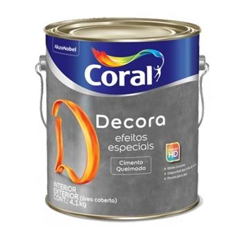 Base Acrílica Decora Efeitos Especiais Cimento Queimado 4,1Kg - Ref. 5353938 - CORAL