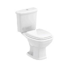 Kit Bacia Caixa Acoplada 3 e 6 Litros Assento + Kit de Instalação Fit Branco - Ref. 1647230010300 - CELITE