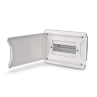 Quadro Distribuição PVC 3N/4D Embutir PTA Branco - Ref. 1270 - KRONA