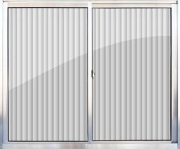 Janela Alumínio 100x100 2 Folhas Tropical Vidro Canelado - Ref.912260 - ALUVID