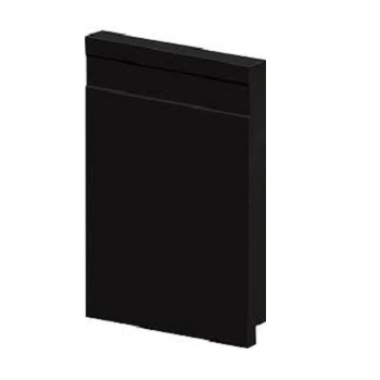 Rodapé PVC 1,4x15x240 50015 Liso Preto - Ref.18055015 - ARQUITECH