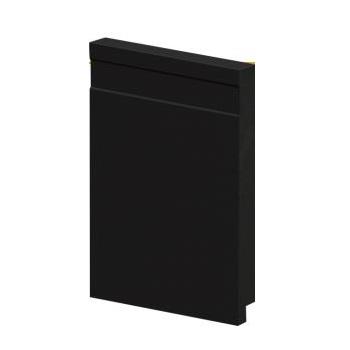 Rodapé PVC 1,4x15x240 51015 Friso Preto - Ref.180551015 - ARQUITECH