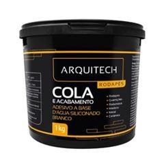 Adesivo a Base D água Siliconado para Rodapé Branco 1kg - Ref. 20855003 - ARQUITECH