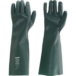 Luva de PVC 35 cm Lisa Forrada Verde - Ref.7027020350 - VONDER