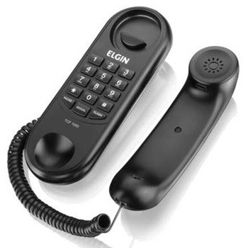 Telefone com Fio TCF 1000 Formato Gôndola Preto - Ref. 42TCF1000000 - ELGIN