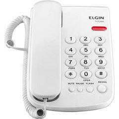 Telefone com Fio TCF 2000 com Indicação Luminosa de Chamada Branco - Ref. 42TCF200B000 - ELGIN