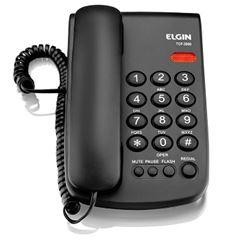 Telefone com Fio TCF 2000 com Indicação Luminosa de Chamada Preto - Ref. 42TCF2000000 - ELGIN