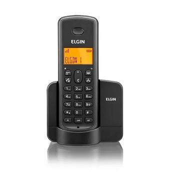Telefone Sem Fio 8001 com Viva Voz e Identificador de Chamada Preto - Ref. 42TSF8001000 - ELGIN