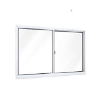 Janela Alumínio 2 Folhas Vidro Liso 120x100 Branca - Ref. A391.0 - RIOBRAS