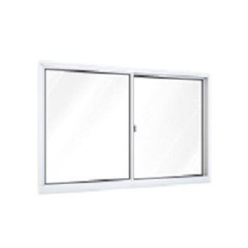 Janela Alumínio 2 Folhas Vidro Liso 150x100 Branca - Ref. A392.0 - RIOBRAS