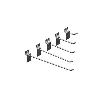 Gancho Aço 10cm Para Painel Branco Caixa Com 12 Peças - Ref. 3749 - ZAR PINTURAS