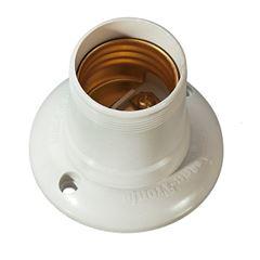 Soquete Baquelite E27 4A Fixo Branco - Ref.30137 - MECTRONIC