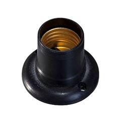 Soquete Baquelite E27 4A Fixo Preto - Ref.30032 - MECTRONIC