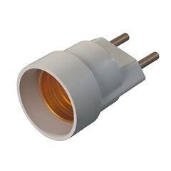 Soquete Baquelite E27 4A Pluge Branco - Ref.30157 - MECTRONIC