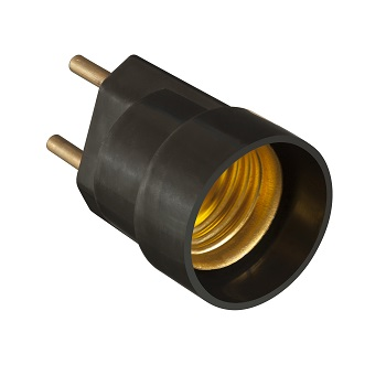 Soquete Baquelite E27 4A Plug Preto - Ref.30230 - MECTRONIC