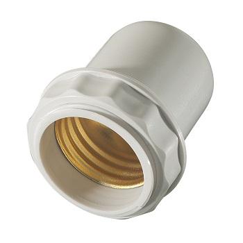 Soquete Baquelite E27 Abajur Branco - Ref.30163 - MECTRONIC
