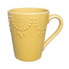 Caneca em Cerâmica 280ml Amarela AK70-0410 - Ref.075972 - OXFORD