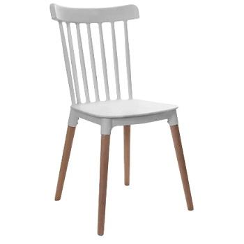 Cadeira Windsor com Pés de Madeira Branca - Ref.F908000 - GARDENLIFE