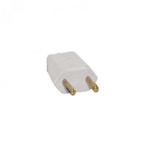 Plug Macho 2P 10A Retangular Branco - Ref.39191 - MECTRONIC