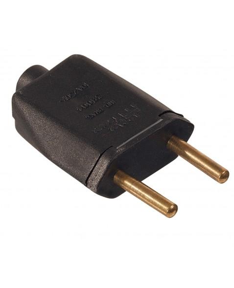 Plug Macho 2P 20A Retangular Preto - Ref.39002 - MECTRONIC