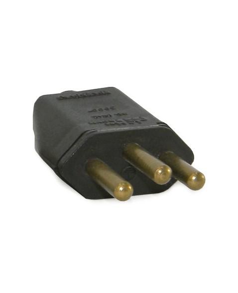Plug Macho 2P+T Retangular 20A Preto - Ref.39003 - MECTRONIC