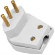 Plug Macho 2P+T Forte 10A Branco - Ref.39182 - MECTRONIC