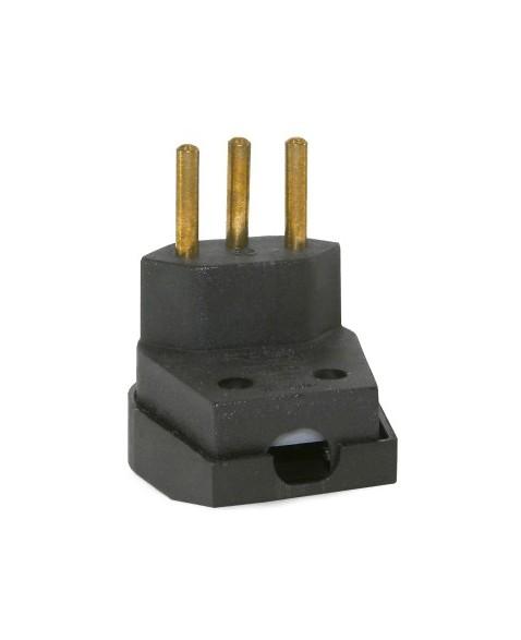 Plug Macho 2P+T Forte 10A Preto - Ref.39063 - MECTRONIC